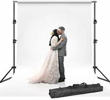 Photography Adjustable Background Crossbar Kit Support Stand White Backdrop