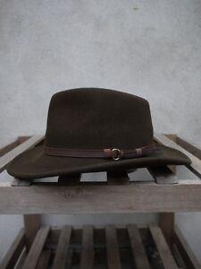 Outback Olive Flexfelt/Soffelt Bush Hat by Olney Headwear 100% wool S/M/L/XL