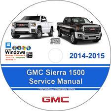 GMC Sierra 1500 2014-2015 Factory Workshop Service Repair Manual