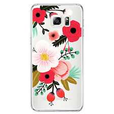 Pattern Rubber Soft TPU Silicone Phone Case Cover For Samsung Galaxy S8 S7 edge
