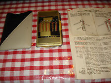 VINTAGE QUICK ADDING AND SUBTRACTING MACHINE GENUINE LEATHER CASE WEST GERMANY
