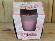 Duftkerze Pfirsich im satinierten Glas, ca. 7,5 cm, Brenndauer ca. 25 Std.