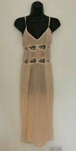 LA PERLA SILK PEACH LONG NIGHTDRESS. UK 10. IMMACULATE