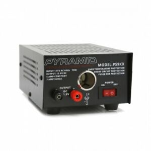 Pyramid PS9KX Bench Power Supply, AC-to-DC Power Converter with car Power Outlet
