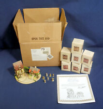 Mi Hummel Merry Little Village Danbury Mint Houses 7 Figurines Boxes Certificate