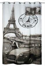 Ösenschal Fotodruck Paris in sepia Schwarz/Weisslook im Postkartenlook