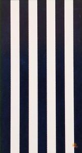 "NEW RALPH LAUREN WHITE+NAVY BLUE STRIPED,ORANGE LOGO,COTTON BEACH TOWEL 35""x 66"""