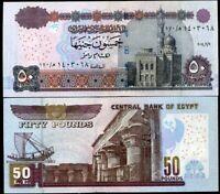 EGYPT 50 POUNDS 2014 P 66 UNC