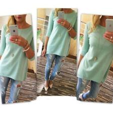 UK Womens Floral Long Tops Blouse Ladies Summer Beach Shirt Dress Plus Size 6-16