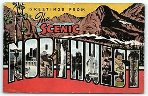 Postcard Large Letter The Scenic Northwest #2