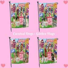 Carnival Kissing Booth Dog Cat Garden Flag, Pet Photo Lovers Gift Home Décor