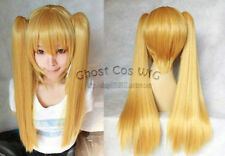 New Fashion Long Milk Gold Blonde Cosplay Wig With Two Clip On Ponytails