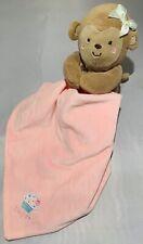 Pink Blanket Lovey Security Blanket Child of Mine Carter's Monkey Sweet Cupcake