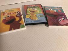 DVD LOT OF 3 Sesame Street ELMO educational dvds
