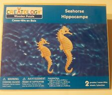 Creatology Wooden Puzzle Sheets Seahorses Animals Sea Life New 3D Dimensional