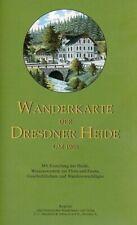 Wanderkarte der Dresdner Heide um 1908 / Reprint