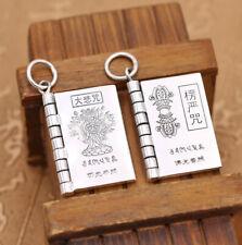 D07 Pendant Buddhist Avalokitesvara Vajra Mantra Zauberformel Fine Silver