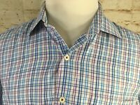 Peter Millar Mens Size 1XLT Long Sleeve Plaid TALL Button UP CASUAL Shirt