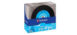 Case 20 Verbatim Cd-R Slim Vinyl 52x Pack 43426 Look New