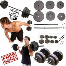 Weight Sets 140lbs Barbell Dumbells Home Gym Fitness Equipment Build Muscle