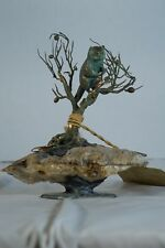 Mid Century Modern Metal and Mineral Sculpture - Fine Art Sculpture Higgins Greg