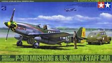 Tamiya 89732 1/48 North American P-51D Mustang & US Army Staff Car RarefromJapan