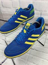 Adidas Brazil Men's Free Football Soccer Shoes Blue Yellow Green Size 12