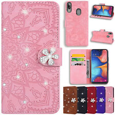 For Samsung A10S A20S A20E A30 Diamond Leather Flip Stand Card Wallet Case Cover
