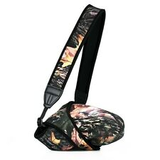 TWO SIDED Camouflage Medium Size Camera Sleeve Pouch Bag Cover with Neck Strap