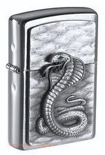 ZIPPO Feuerzeug GREEN EYED COBRA m. Emblem Kobra Schlange Reptil NEU OVP
