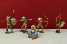 Lot of 5 Elastolin Indians