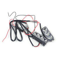 2PCS 3 LED 12V Car Auto High Power White DRL Day Running Light Bright Fog Lamp