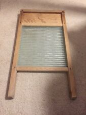 Vintage National Washboard Co. Wood & Glass Laundry Wash Board #865 - US PAT.