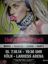 Lady Gaga Art Pop Tour 2014 A1 84cm Köln Konzert Plakat Concert Callejon Poster