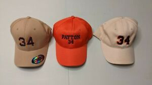 Chicago Bears Adult Walter Payton Hats. Big Lot Of 3 Hats, Brand New!