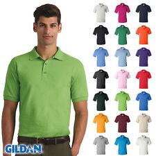 Gildan DryBlend Jersey Mens Polo Shirt Sport 50/50 Plain T-Shirt S-5XL - 8800