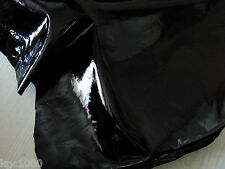 Black Patent Leather skins Hides Suedes 15 sqft Fashion Trimming Leathercraft