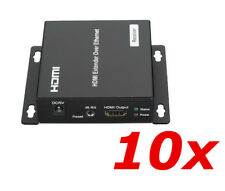 10 Pack HDMI Extender RX Receiver Over TCP IP via CAT5e 6 RJ45 Network Ethernet