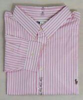 Ralph Lauren Polo Pony Classic Fit Long Sleeves Striped Dress Shirt LT Big Tall