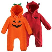 US Boys Girls Halloween Party Jumpsuits Baby Kids Hooded Romper Cosplay Costumes