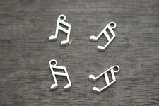 60pcs -- music note charms silver tone treble clef charme pendentifs musical 8x14mm