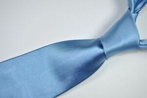 RALPH LAUREN PURPLE LABEL RLPL Tie MADE IN ITALY 100% Silk Blue Color L60 W3.7