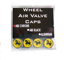 Ferrari Tire Valve Stem Caps Chrome