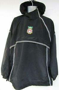 Wrexham Football Vandanel 2XL Training Pullover Anorak Rain Jacket Hooded Black