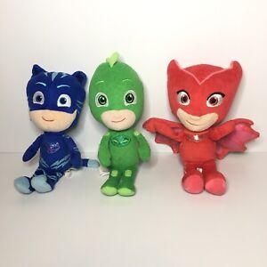 PJ MASKS Catboy Owlette & Gekko Plush Toys Set