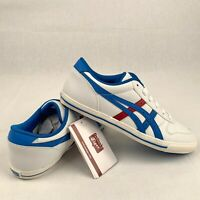 Onitsuka Tiger Aaron GS C3A4Y Boy's Shoes Sneakers Trainers White Blue US 5 UK 4
