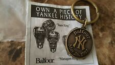 VINTAGE 1997 NEW YORK YANKEES 23 WORLD SERIES CHAMPIONSHIPS BALFOUR KEYCHAIN.NOS