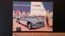 1961 Austin-Healey 3000 - Color Dealer Sales Catalog Brochure - Good (Uk)