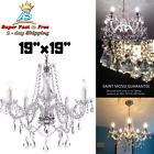 Crystal Vintage Chandelier Lighting Ceiling Fixture Lamp Modern Pendant Light