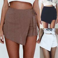 Women Summer Skorts Shorts High Waist Casual Beach Wrap Culottes Skirt Hot Pants
